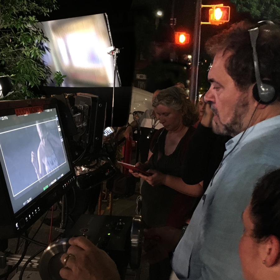 Julio Macat operates remote control Arri 65